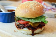 Stout & Sriracha Barbecue Bacon Burgers - From Valerie's Kitchen