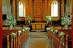 Wedding Flowers pretty church decor Grandma would love to do the large arrangments - Hiya lovely Dec 10 Brides. I have planned almost everything now but am stuck on pew ends! Wedding Ceremony Ideas, Church Wedding Flowers, Altar Flowers, Church Flower Arrangements, Wedding Altars, Church Ceremony, Wedding Flower Arrangements, Wedding Bouquets, Church Weddings