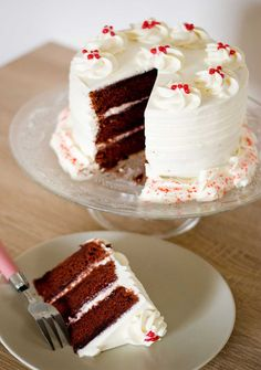 Make Red Velvet Cake at home or want to make cake deliver in Gurgaon via http://www.cakengifts.in/cake-delivery-in-gurgaon