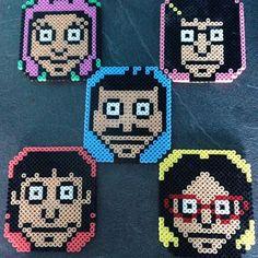 Bob's Burgers coaster set hama beads by hamaheadhandiwork
