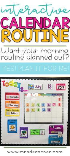 Morning Routine for the Self-Contained Classroom – Mrs. D's Corner – School Calendar İdeas. Autism Classroom, Preschool Learning, Kindergarten Classroom, Classroom Activities, Learning Activities, Teaching, Classroom Ideas, Classroom Calendar, Calendar Time Kindergarten