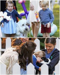 The Cambridge Family Today Prince George and little sister, Charlotte, carried out their very first official public engagement together! The family joined with parents and children from military families at Government House in Victoria. They had a petting zoo, featuring mini horses, goats, and rabbits, a puppet show, and balloon animal station set up for the young kids. As soon as Kate set Charlotte down on the ground she ran straight for the balloon arch, hugged it, and made her first w...
