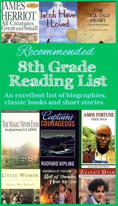 Looking for an grade reading list? Here is a recommended reading list for eighth grade students including biographies, classic books and short stories that ...