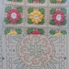 Superior 40 Crochet ideas for beginners Crochet Motif Patterns, Square Patterns, Crochet Diagram, Crochet Squares, Crochet Granny, Crochet Chart, Crochet Cushion Cover, Crochet Cushions, Yarn Storage