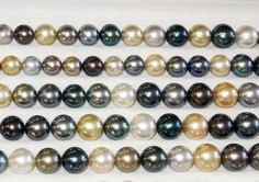 Mixed Strands Of Tahitian And South Sea pearls