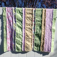 Baby Girl Rag Quilt Pastel Flannel Baby by SimpleStitchShoppe