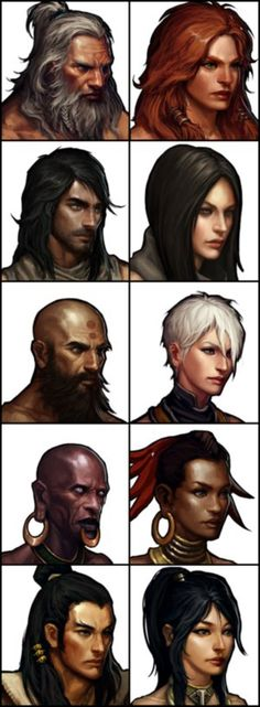 Diablo 3 Classes by deamen1989 on @DeviantArt  Daemon hunter hair but cooler wig-red tips?