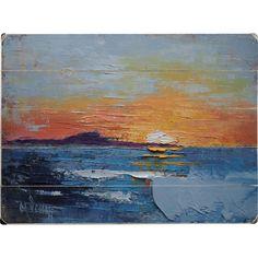 The Sun Falls Into the Sea Wall Décor | Wayfair
