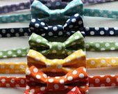 Little Guy Bow Tie  - POLKA DOT Collection - (All Sizes) - Baby Boy Toddler - Custom Order - Wedding - Photo Prop