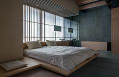 Ginzan Onsen Fujiya (2006) bedroom and bath | Yamagata, Japan • Kengo Kuma + Associates.