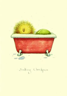 Soaking Chickpea - A Two Bad Mice card by Fran Evans Illustration Art Dessin, Most Popular Artists, Penny Black Stamps, Card Making Inspiration, Fantasy Artwork, Animal Paintings, Anita Jeram, Contemporary Artists, Pet Birds