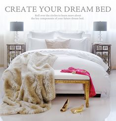 Create Your Dream Bed – Au Lit Fine Linens Master Bedroom, Bedroom Decor, Master Bath, Bedroom Ideas, Between The Sheets, How To Dress A Bed, Dreams Beds, Comfy Bed, Grey Bedding