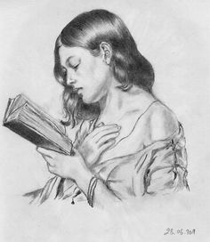 The Girl, Reading by ~Ecza on deviantART