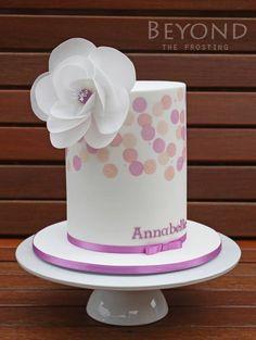 New Birthday Cake Fondant Woman Wafer Paper 32 Ideas Birthday Cake For Women Elegant, Birthday Cakes For Women, Wafer Paper Flowers, Wafer Paper Cake, Pretty Cakes, Beautiful Cakes, Fondant Cakes, Cupcake Cakes, Double Barrel Cake