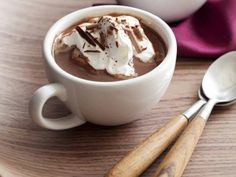 Peppermint Hot Chocolate Recipe by Jackie Riley, foodnetwork #Hot_Chocolate #Pepper,omt