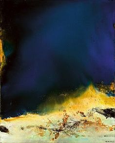 Zao Wou-Ki was born in Beijing, and   started out studying calligraphy, then chinese and western art, and lived in Paris most of his life. He was much inspired by Paul Klee .