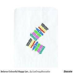 Belarus Colourful Happy Letters Favor Bag