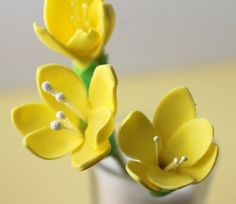 How to make a freesia from fondant / gum paste, DIY / tutorial