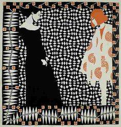 Moser - I was so impressed by how modern this print is - doesn't the dress on the figure to the right seem almost 1960s?