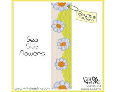 Peyote Bracelet Pattern Sea Side Flowers  von VikisBeadingPatterns, $6.50