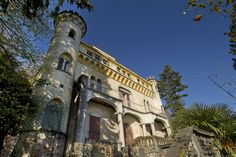 The lakefront castle estate was once owned by a renowned Italian fashion designer