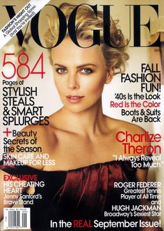 cover of sept us vogue 2014 full view | Vogue USA cover with Charlize Theron - September 2009 - ID3793