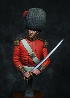 Lieutenant, Coldstream Guards, Scutari Crimean Campaign - Virtual Museum of Historical Miniatures British Army Uniform, British Uniforms, British Soldier, Military Figures, Military Art, Military Uniforms, German Royal Family, Queens Guard, Crimean War