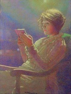 "23silence: "" Leon Kamir-Kaufman (1872-1933) - Woman Reading """