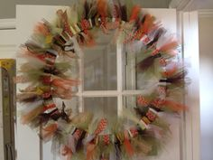 Made Fall wreath. Will either add wording on a piece of wood or use as a center piece with candles.