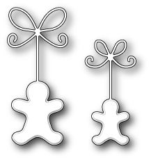 "Precious Gingerbread Men - $11.99 The Precious Gingerbread Men by Memory Box are a gorgeous pair of gingerbread men! Size       1.2"" x 2.7""     1"" x 2.1"""