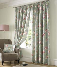 Shabby Chiq Curtains | Floral Curtains | Fast UK Delivery