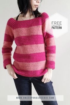 Patterns Disney Cheshire Dreams Sweater Crochet Pattern - Once Upon a Cheerio Diy Crochet Sweater, Crochet Clothes, Knit Sweaters, Scarf Crochet, Sewing Patterns Free, Free Pattern, Crochet Patterns, Sweater Patterns, Free Knitting