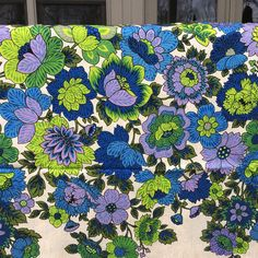 Vintage Fabric / Vintage Yardage NOS / MOD Floral by vintagemb60