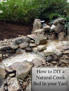 How to DIY a Natural Creek Bed- LOVE this.