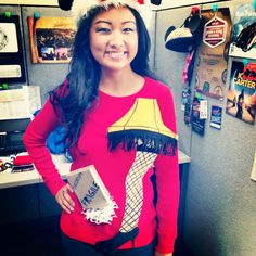 DIY Ugly Sweater- A Christmas Story Leg Lamp. Kelly, not sure if mom told you yet. We are all going to wear ugly Christmas sweaters to Christmas this year!!!!