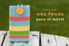 Video tutorial de cómo hacer una funda de ganchillo para el móvil. How to make a crochet phone case