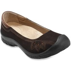 I wish I thought these would stay on my feet - they are very cute. ->Keen Barika Slip-On Shoes - Women's