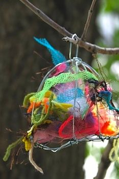 Bird nest helper! For Tiff-like birds lol! Also on this site, check out the recycled toy wreaths (in addition to SOooo many good ideas for kids).
