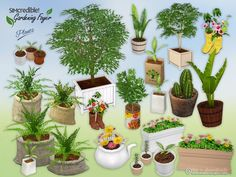 Gardening Foyer Plants by SIMcredible at TSR via Sims 4 Updates