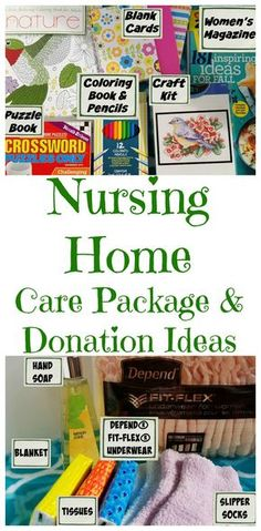 Nursing Home Care Package Ideas for what to put in a nursing home care package or to donate to a local nursing home. for what to put in a nursing home care package or to donate to a local nursing home. Service Projects For Kids, Community Service Projects, Service Ideas, Service Club, Nursing Home Gifts, Nurse Gifts, Nursing Homes, Hospital Care Packages, Homeless Care Package