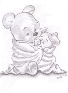 Such a cute drawing of pooh and piglet