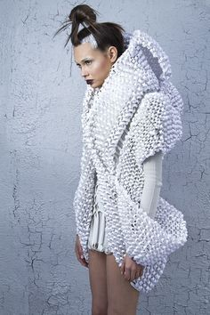 Sculptural 3D Fashion - three-dimensional dress form with shape and texture; wearable art // Elin Johansson
