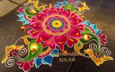 Free Hand Rangoli Design Ideas For Diwali image 18 Rangoli Designs Peacock, Indian Rangoli Designs, Simple Rangoli Designs Images, Rangoli Designs Latest, Rangoli Patterns, Colorful Rangoli Designs, Rangoli Ideas, Kolam Designs, Beautiful Rangoli Designs