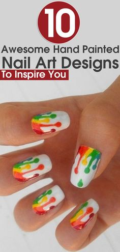10 Awesome Hand Painted Nail Art Designs To Inspire You