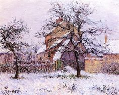 Snow at Vaudreuil by Gustave Loiseau (France)