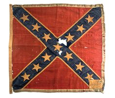 Battle Flag flown by the 5th Regiment, South Carolina Cavalry. Charleston Museum.