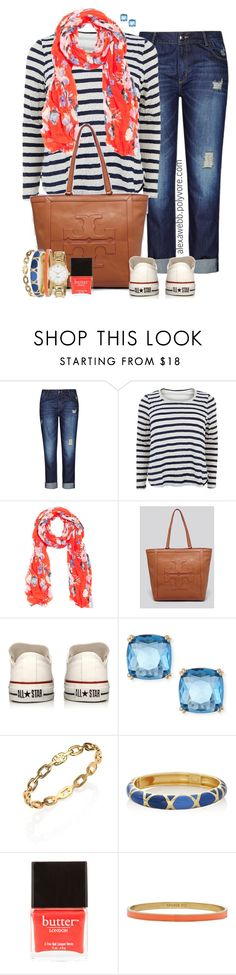 Plus Size - Spring Stripes by alexawebb on Polyvore featuring Samya, City Chic, Converse, Tory Burch, Kate Spade, The Limited, Fragments, Butter London, outfit and plussize