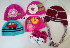 Gorritos al Crochet para bebes!!!