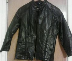 Cellini black Leather Girls Jacket Size Large -$30.00
