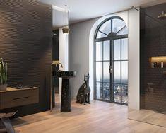 Feinsteinzeug Fliesen in Holzoptik sind ideal für die Gestaltung wohnlicher Bäder.